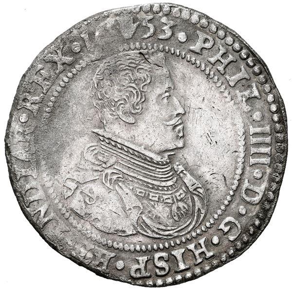 Brabant, Spanish Netherlands (Antwerp Mint), portrait ducatoon, Philip IV, 1653.