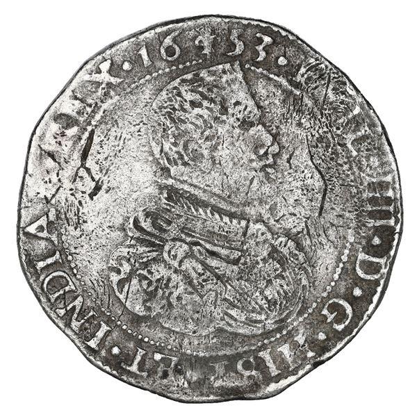 Flanders, Spanish Netherlands (Bruges Mint), portrait ducatoon, Philip IV, 1653.