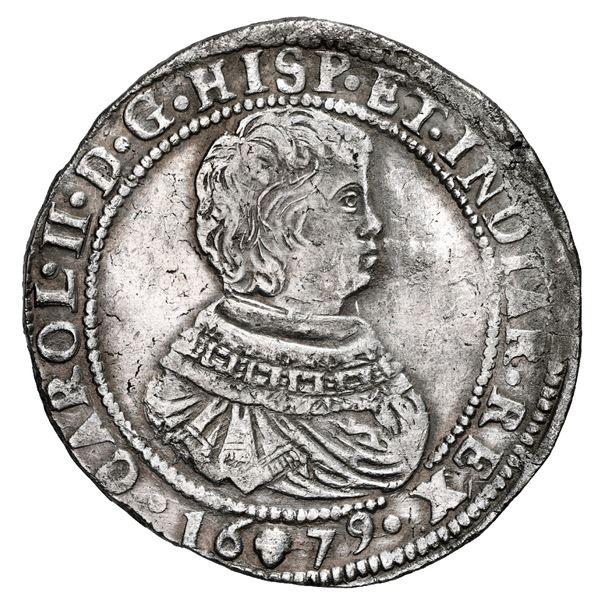 Brabant, Spanish Netherlands (Antwerp Mint), portrait ducatoon, Charles II, 1679.