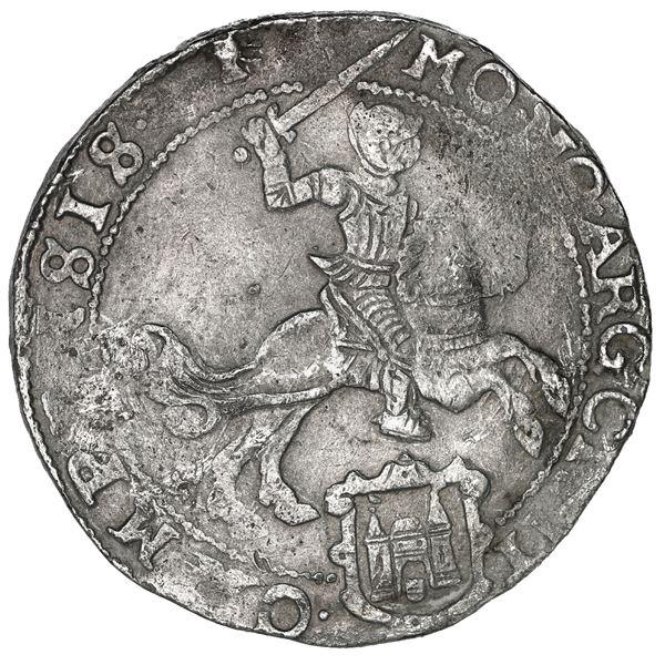 "Campen, United Netherlands, ""rider"" ducatoon, 1664."