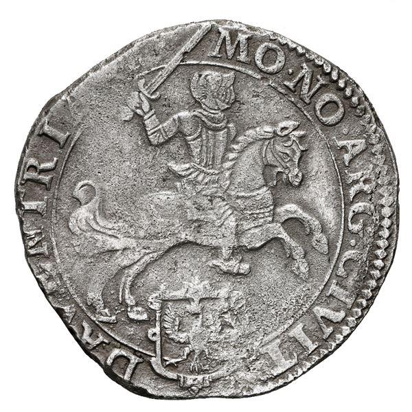 "Deventer, United Netherlands, ""rider"" ducatoon, 1668, rare."