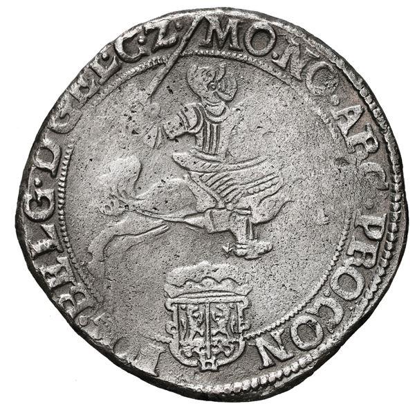 """Gelderland, United Netherlands, """"rider"""" ducatoon, 1668, rare."""