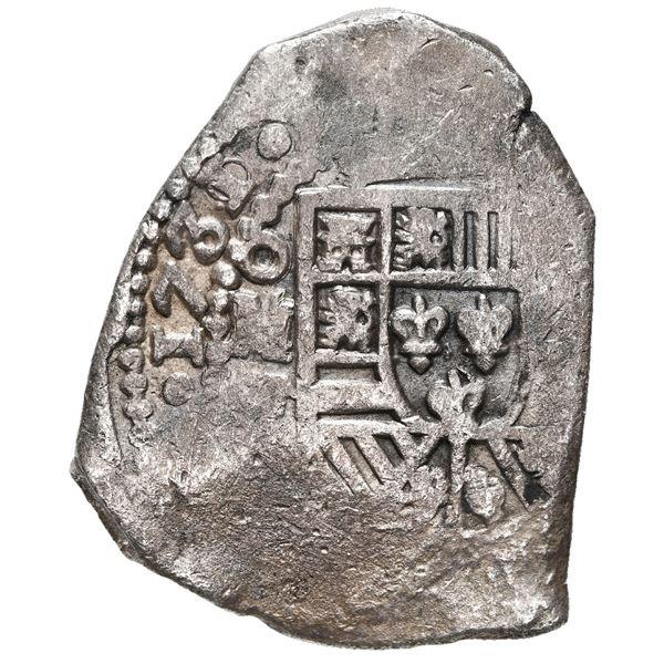 Mexico City, Mexico, cob 8 reales, 1731/0 F.