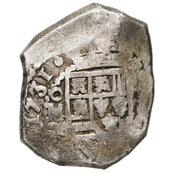 Mexico City, Mexico, cob 8 reales, 1731 F.