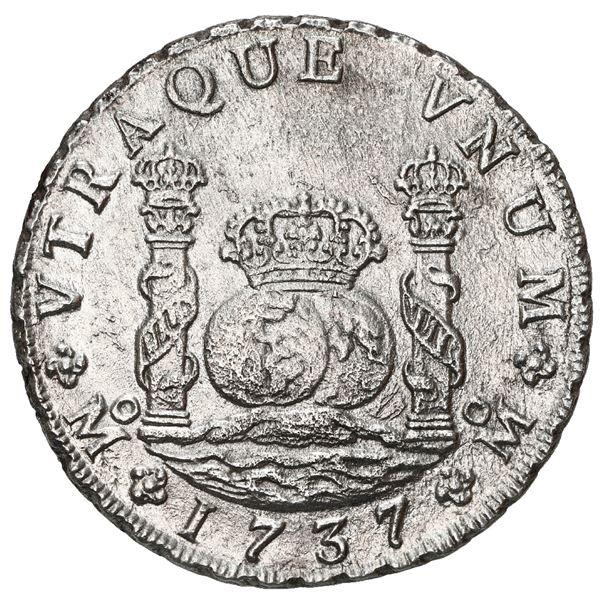 Mexico City, Mexico, pillar 8 reales, Philip V, 1736 MF.