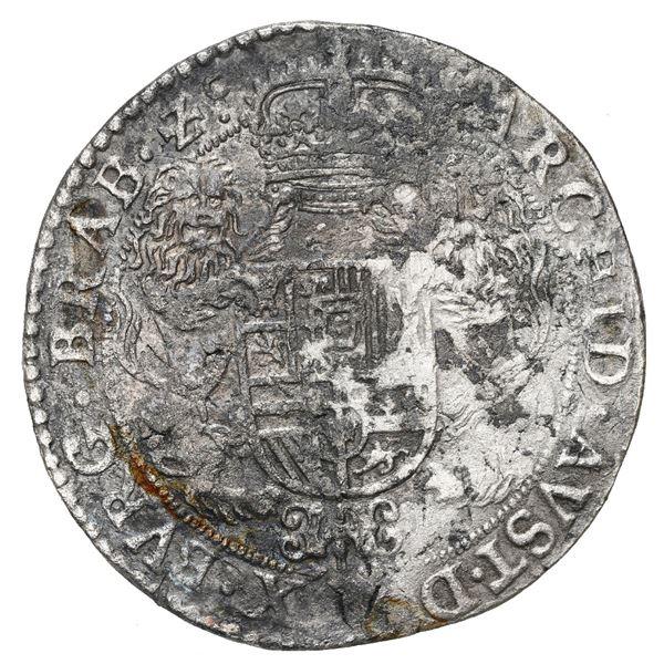 Brabant, Spanish Netherlands (Brussels mint), portrait ducatoon, Philip IV, 1662.