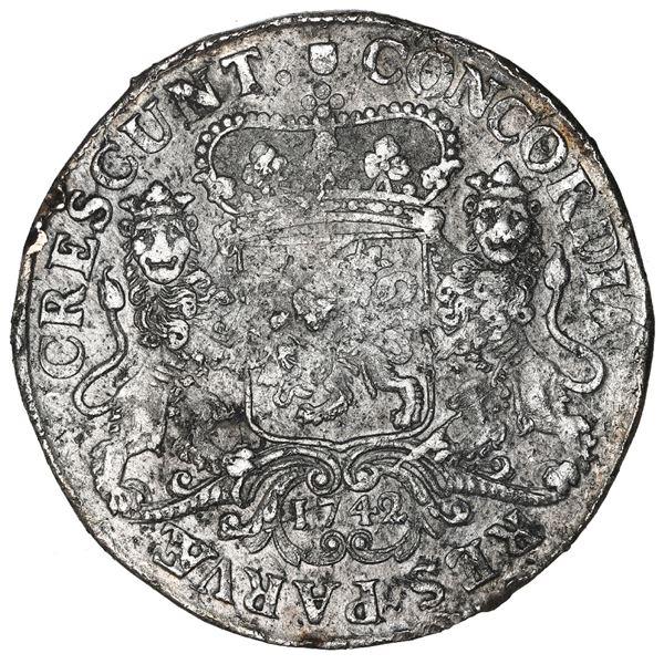 "Utrecht, United Netherlands, ""rider"" ducatoon, 1742."