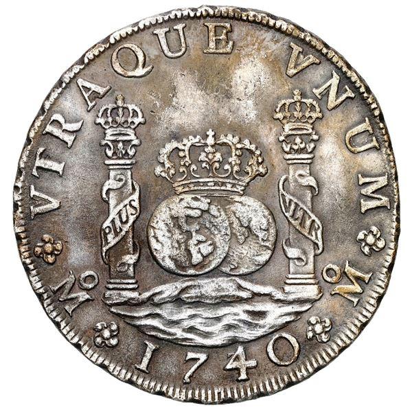Mexico City, Mexico, pillar 8 reales, Philip V, 1740/30 MF.
