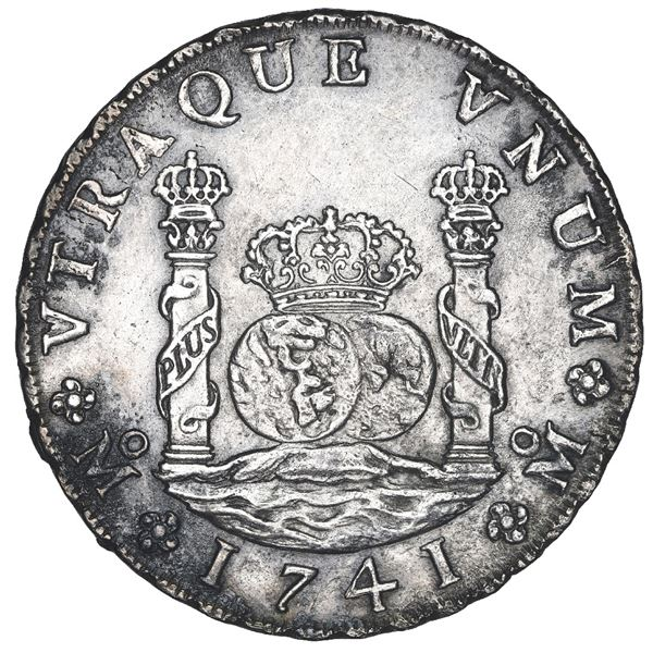 Mexico City, Mexico, pillar 8 reales, Philip V, 1741 MF, in original box.