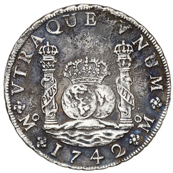 Mexico City, Mexico, pillar 8 reales, Philip V, 1742/1 MF.