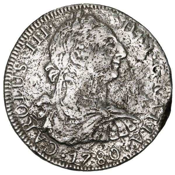 Mexico City, Mexico, bust 8 reales, Charles III, 1780 FF.