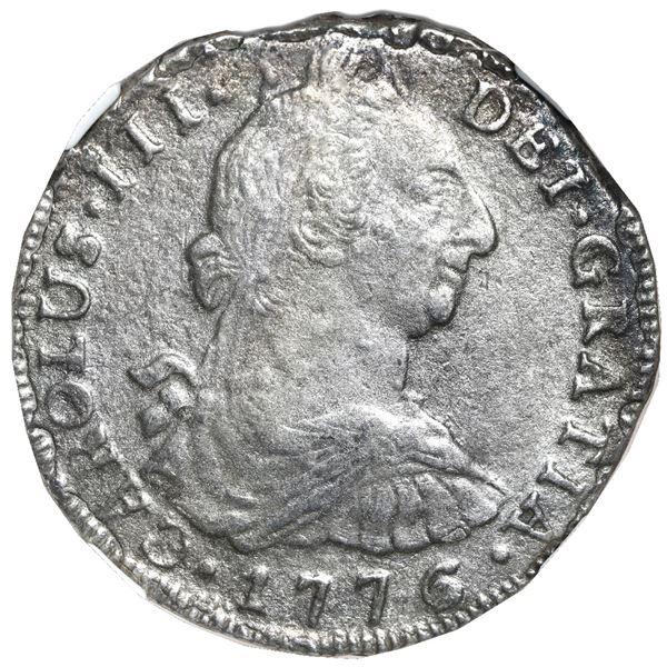 Potosi, Bolivia, bust 8 reales, Charles III, 1776 PR, NGC El Cazador / genuine.