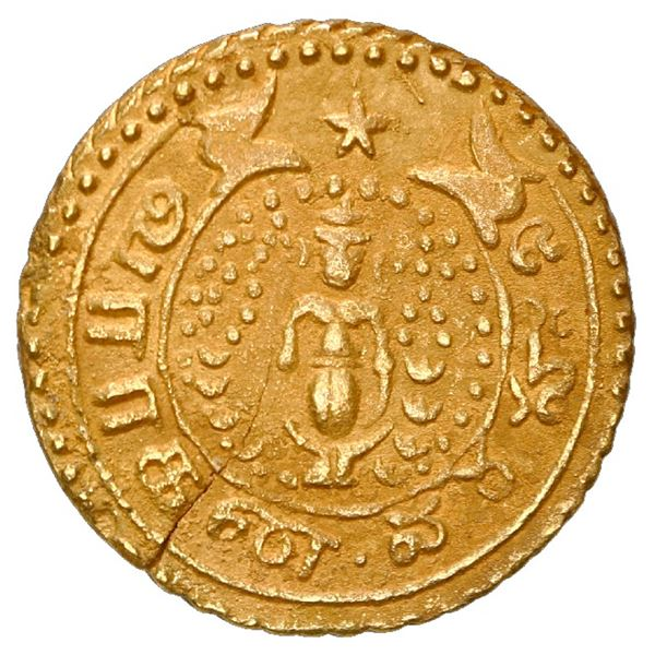 India (British East India, Madras presidency), gold pagoda, issue of 1808-15.