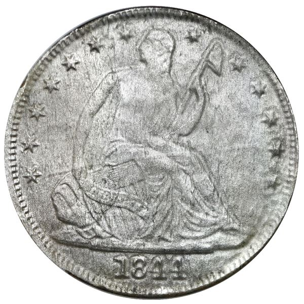 USA (New Orleans Mint), Seated Liberty half dollar, 1844-O, NGC Shipwreck Effect / SS New York.