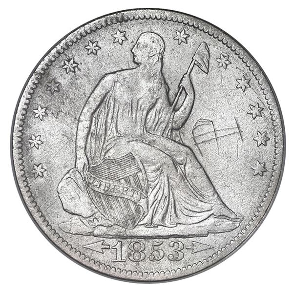 USA (New Orleans Mint), Seated Liberty half dollar, 1853-O, Arrows and Rays, NGC SS Republic Inscrib