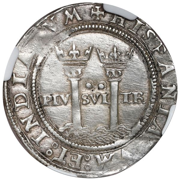 """Mexico City, Mexico, 2 reales, Charles-Joanna, """"Late Series,"""" assayer A to right, mintmark M to left"""