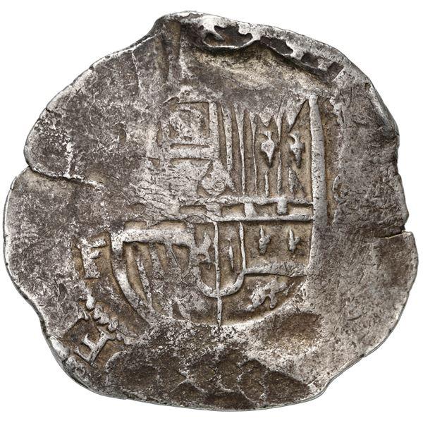 Mexico City, Mexico, cob 8 reales, Philip II or III, assayer F.