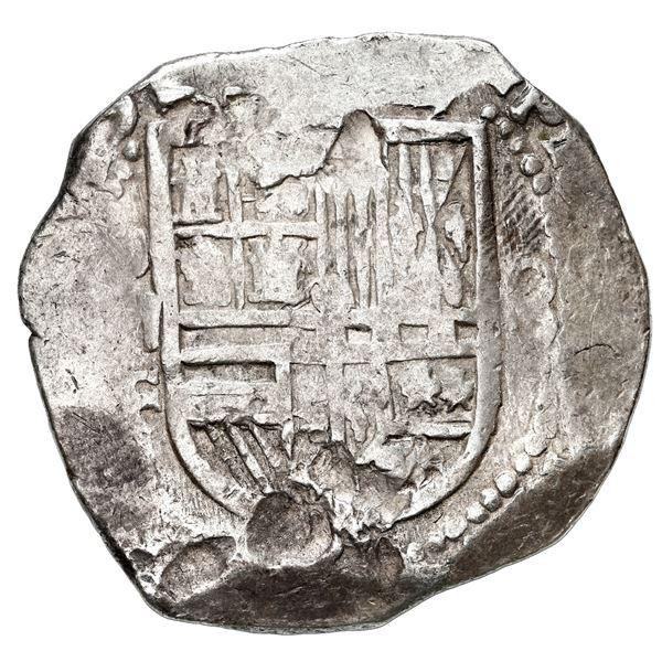 Mexico City, Mexico, cob 8 reales, 1613 F, rare.