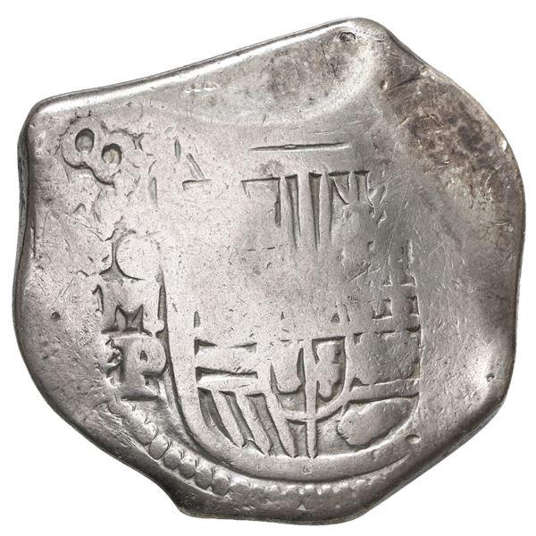 Mexico City, Mexico, cob 8 reales, 1638 P, rare, ex-Pullin.