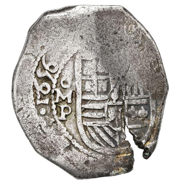 Mexico City, Mexico, cob 8 reales, 1656 P.