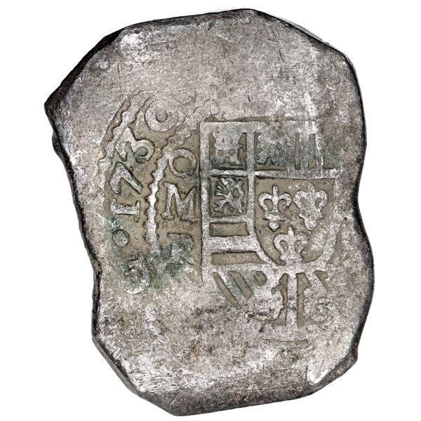 Mexico City, Mexico, cob 8 reales, 1730 R.