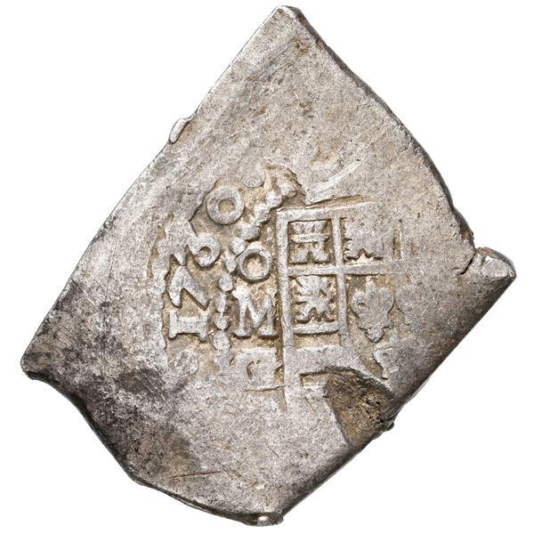 Mexico City, Mexico, cob 8 reales, 1730 G/R, rare.