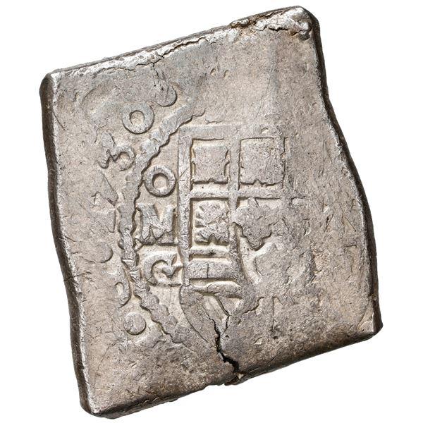 Mexico City, Mexico, cob 8 reales, 1730 G, ex-Kent Ponterio, ex-Rudman.