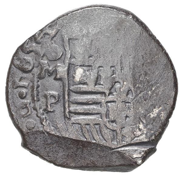 Mexico City, Mexico, cob 4 reales, 1654/3 P, rare.