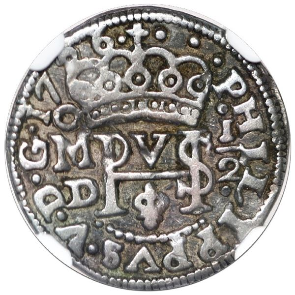 Mexico City, Mexico, cob 1/2 real Royal (galano), 1726 D, rare, NGC VF 35, finest and only example i