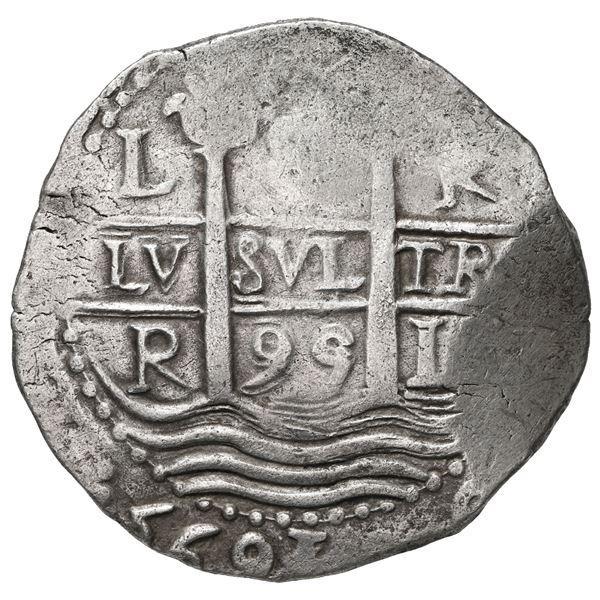 Lima, Peru, cob 8 reales, 1695 R.