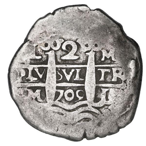 Lima, Peru, cob 2 reales, 1709 M.
