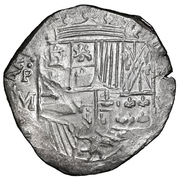 Potosi, Bolivia, cob 8 reales, 1617 M, NGC MS 62, finest known in NGC census.