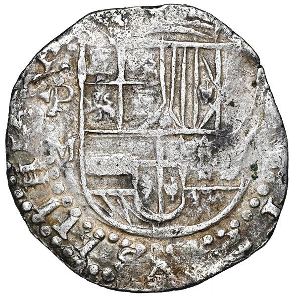 Potosi, Bolivia, cob 8 reales, 1617 M, NGC VF 30.