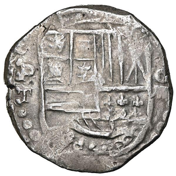 Potosi, Bolivia, cob 8 reales, 1619 T, NGC XF 45.