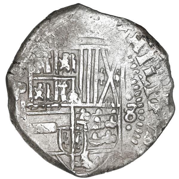 Potosi, Bolivia, cob 8 reales, 1632 T.