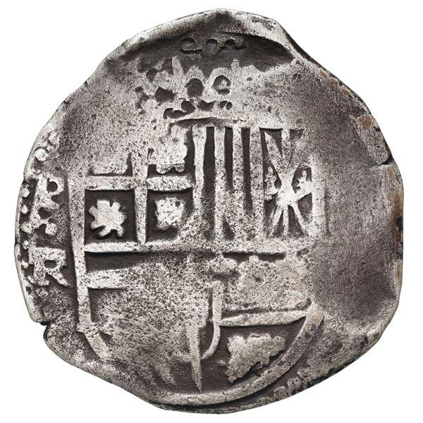 Potosi, Bolivia, cob 8 reales, 1642 FR, rare.