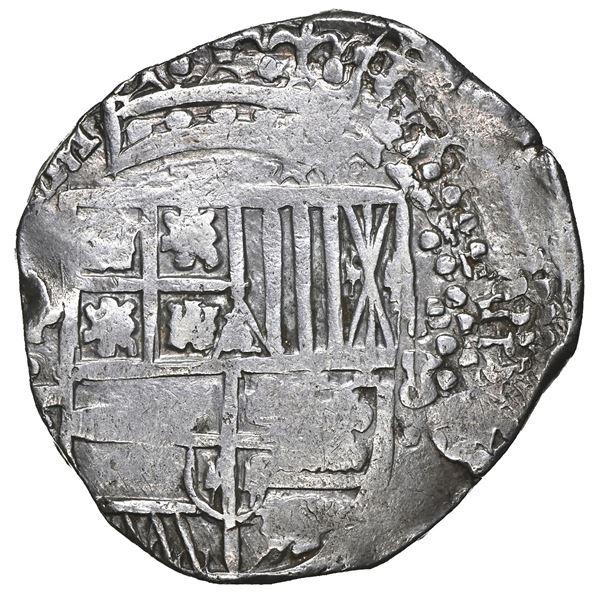 Potosi, Bolivia, cob 8 reales, 1645 T, NGC AU 53.