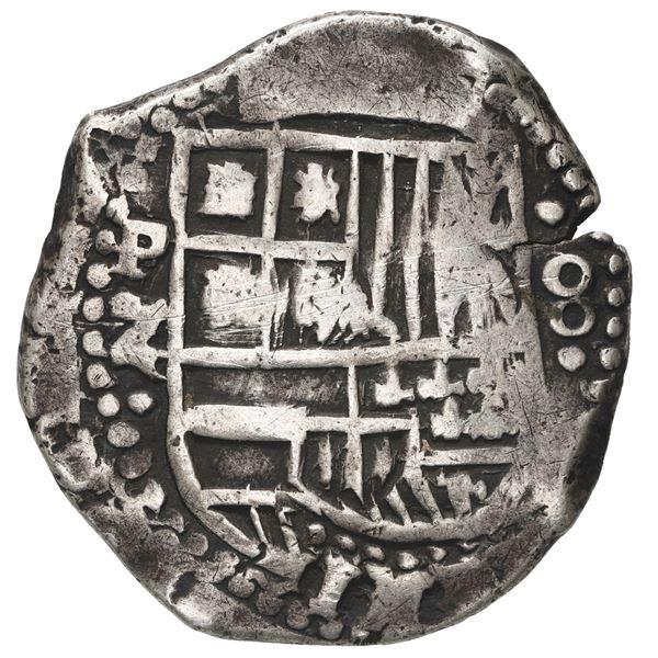 Potosi, Bolivia, cob 8 reales, 1649 Z, rare.