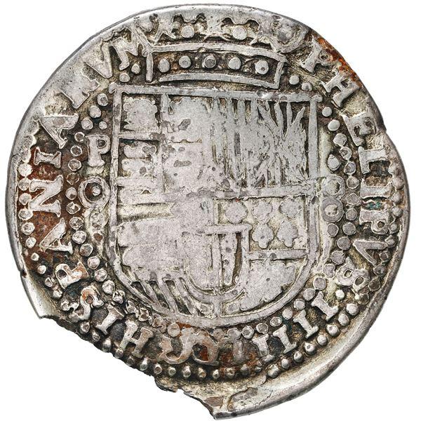 Potosi, Bolivia, cob 8 reales Royal, 1649 O, very rare.