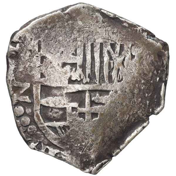 Potosi, Bolivia, cob 4 reales, Philip IV, assayer Z (1647-9).