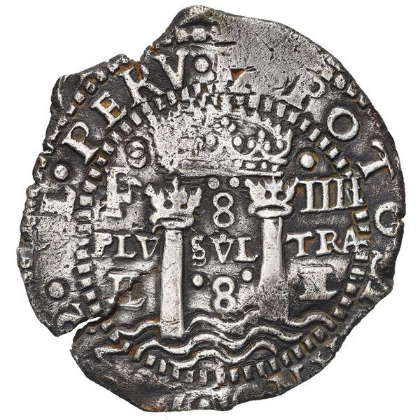 Potosi, Bolivia, cob 8 reales, 1652 E transitional Type IV/A, ex-Capitana (1654).