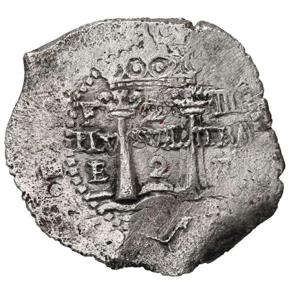 Potosi, Bolivia, cob 2 reales, 1652 E transitional, McLean Type V/B (Mastalir 1-B), very rare, Masta