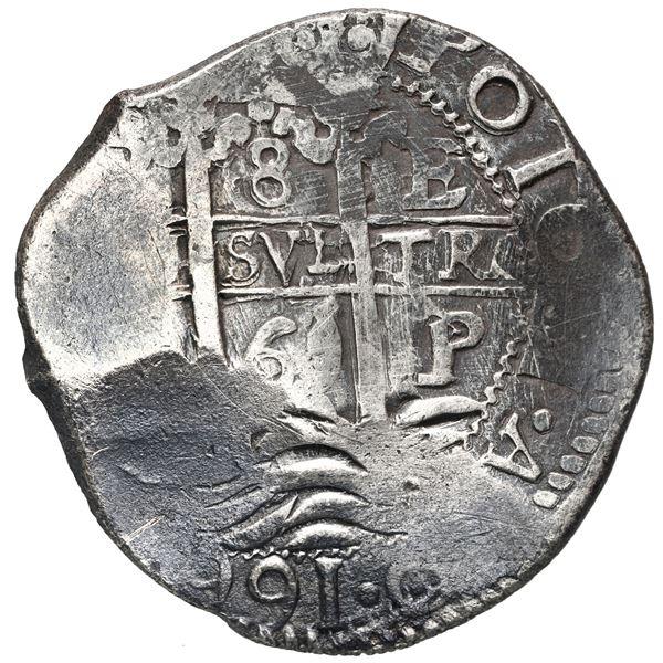 Potosi, Bolivia, cob 8 reales, 1669 E.