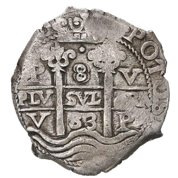 Potosi, Bolivia, cob 8 reales, 1683 V.