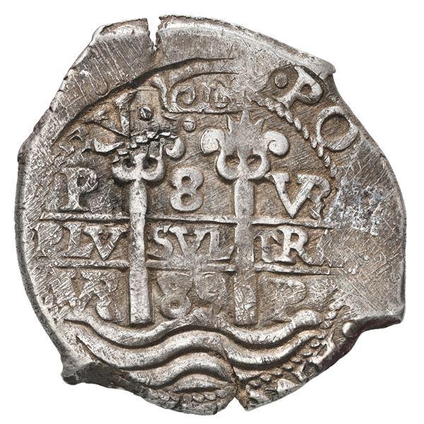 Potosi, Bolivia, cob 8 reales, 1685 VR.