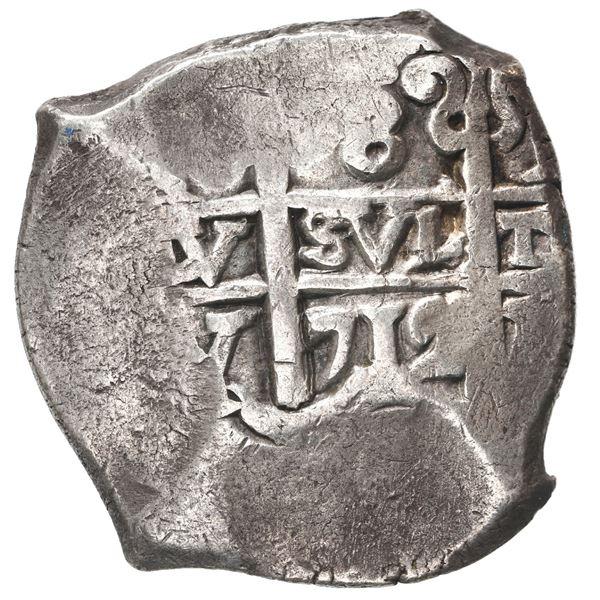 Potosi, Bolivia, cob 8 reales, 1712 Y.
