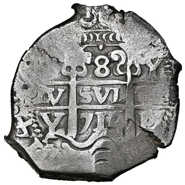 Potosi, Bolivia, cob 8 reales, 1714 Y, NGC AU 55, finest known in NGC census.