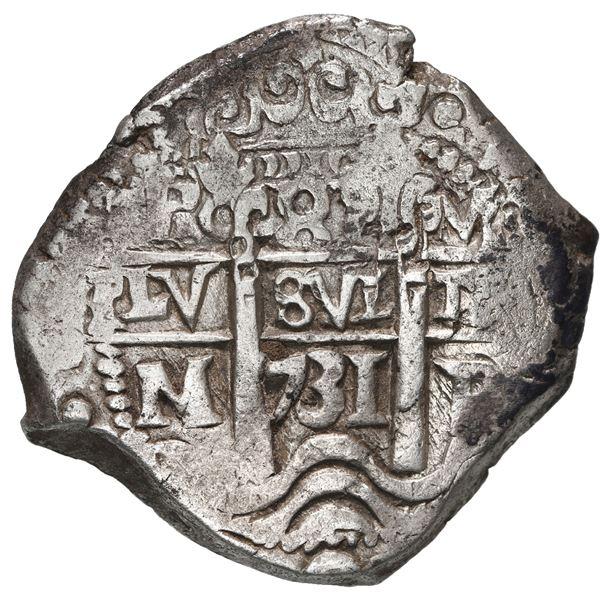 Potosi, Bolivia, cob 8 reales, 1731 M.