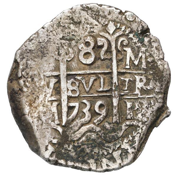 Potosi, Bolivia, cob 8 reales, 1739 M.