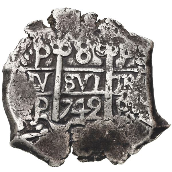 Potosi, Bolivia, cob 8 reales, 1742 P.